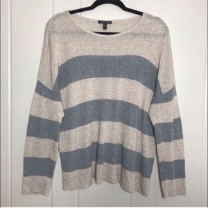 Eileen Fisher Wool Striped Lightweight Sweater